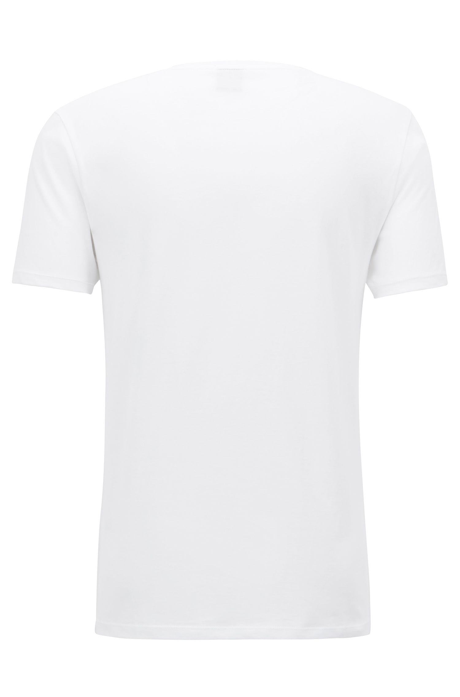 Unisex cotton T-shirt with Michael Jackson dance pose print, White