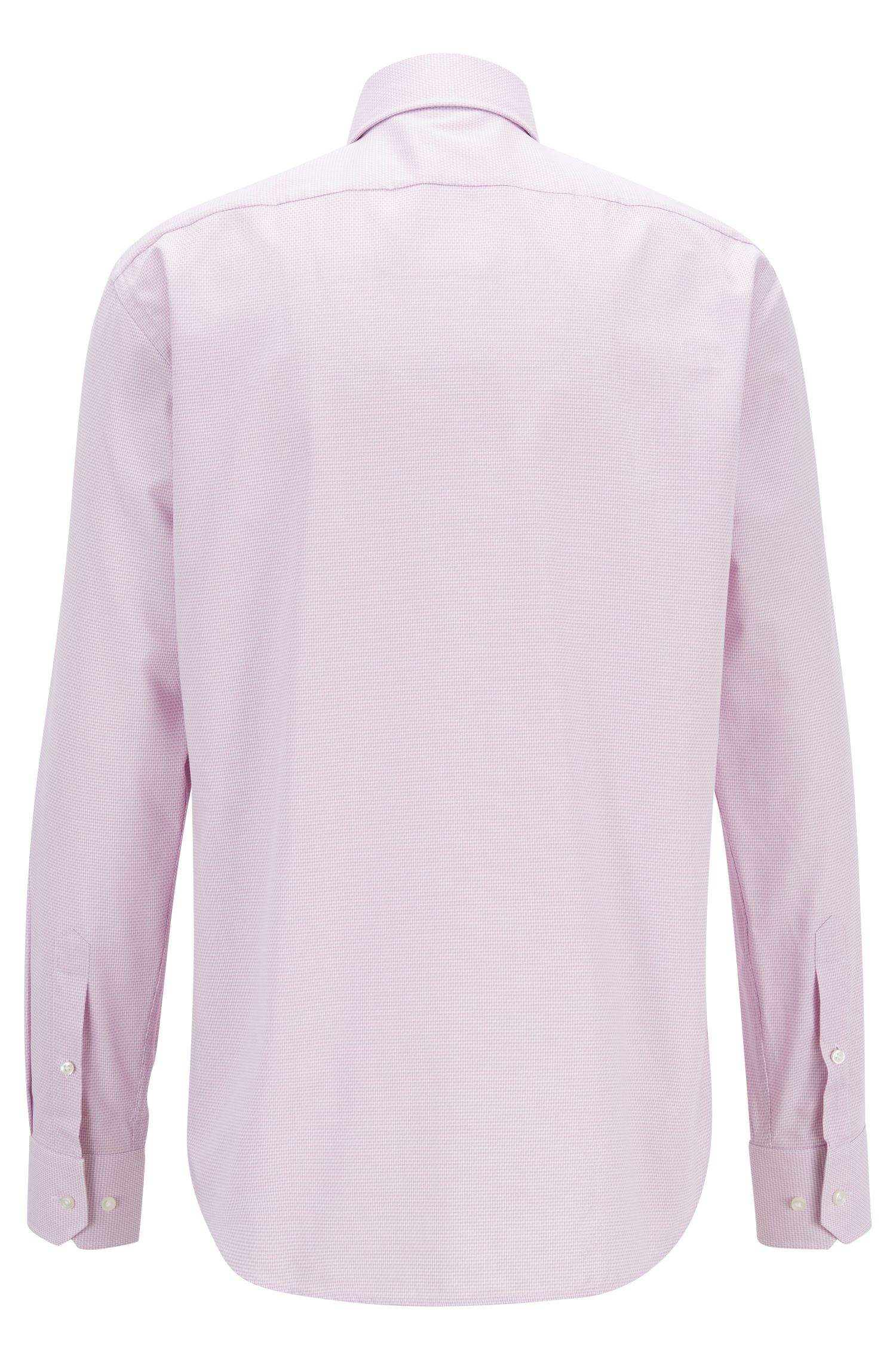 Regular-fit shirt in micro-structured cotton twill, light pink