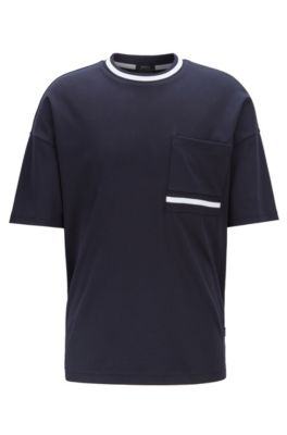 Relaxed-fit T-shirt in super-soft cotton, Dark Blue