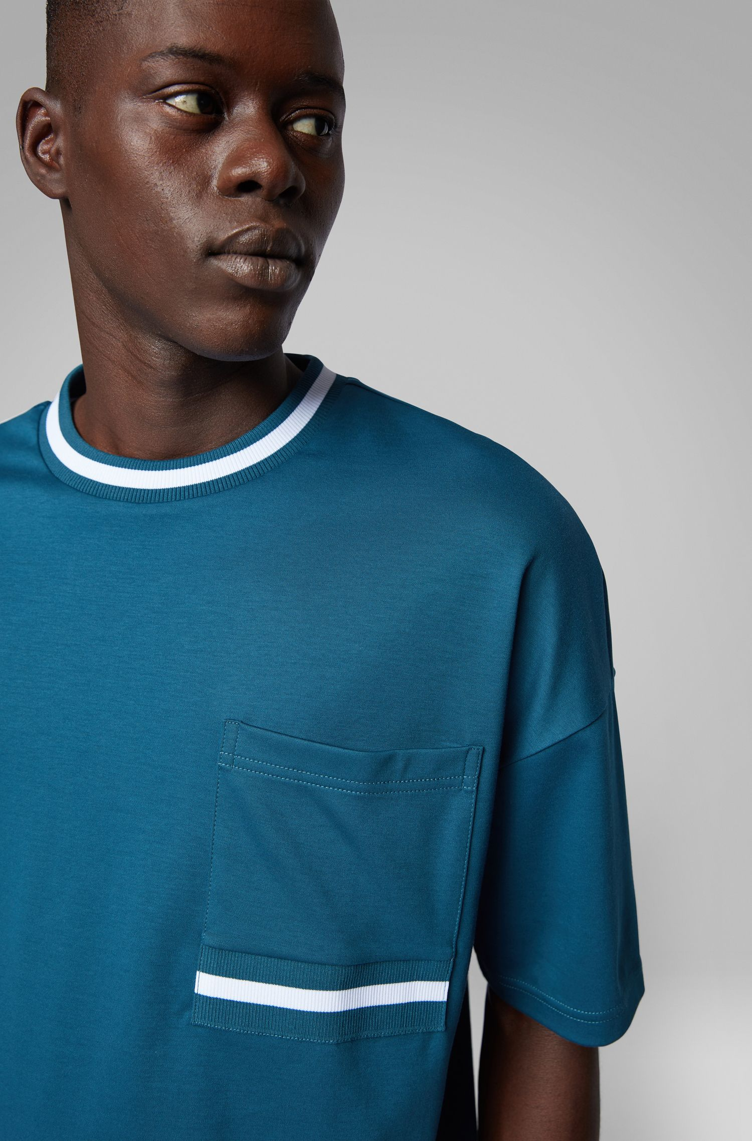 Relaxed-fit T-shirt in super-soft cotton, Blue