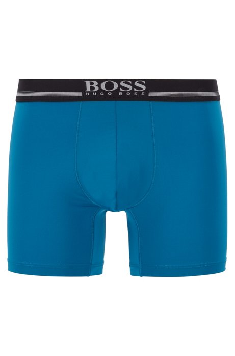 Quick-dry boxer briefs in four-way-stretch microfiber, Turquoise