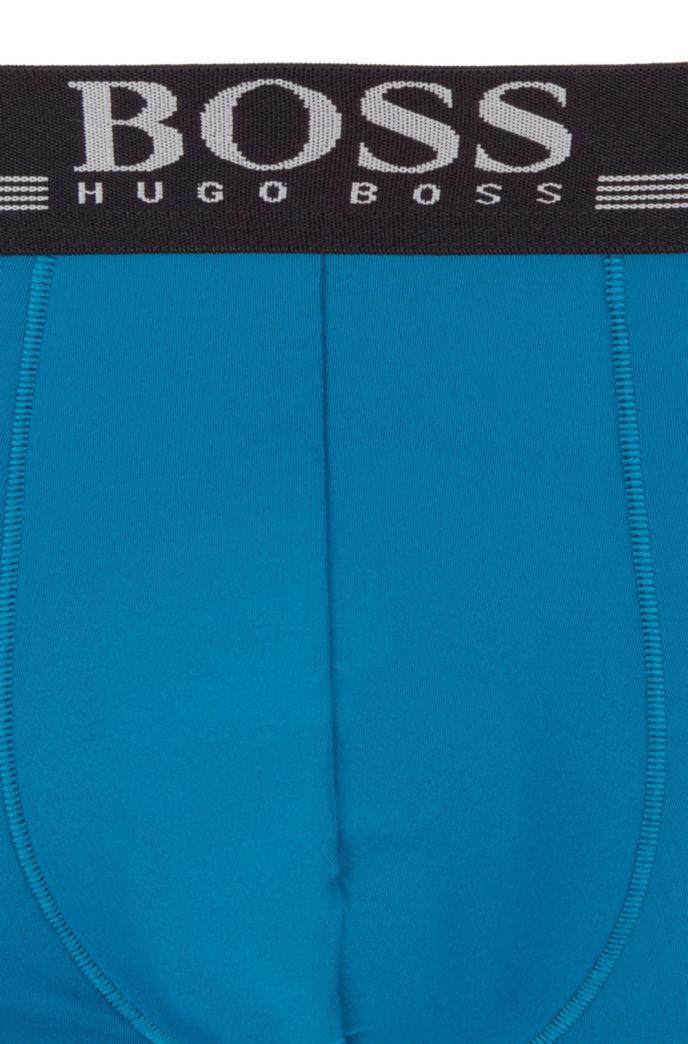 Quick-dry boxer briefs in four-way-stretch microfiber