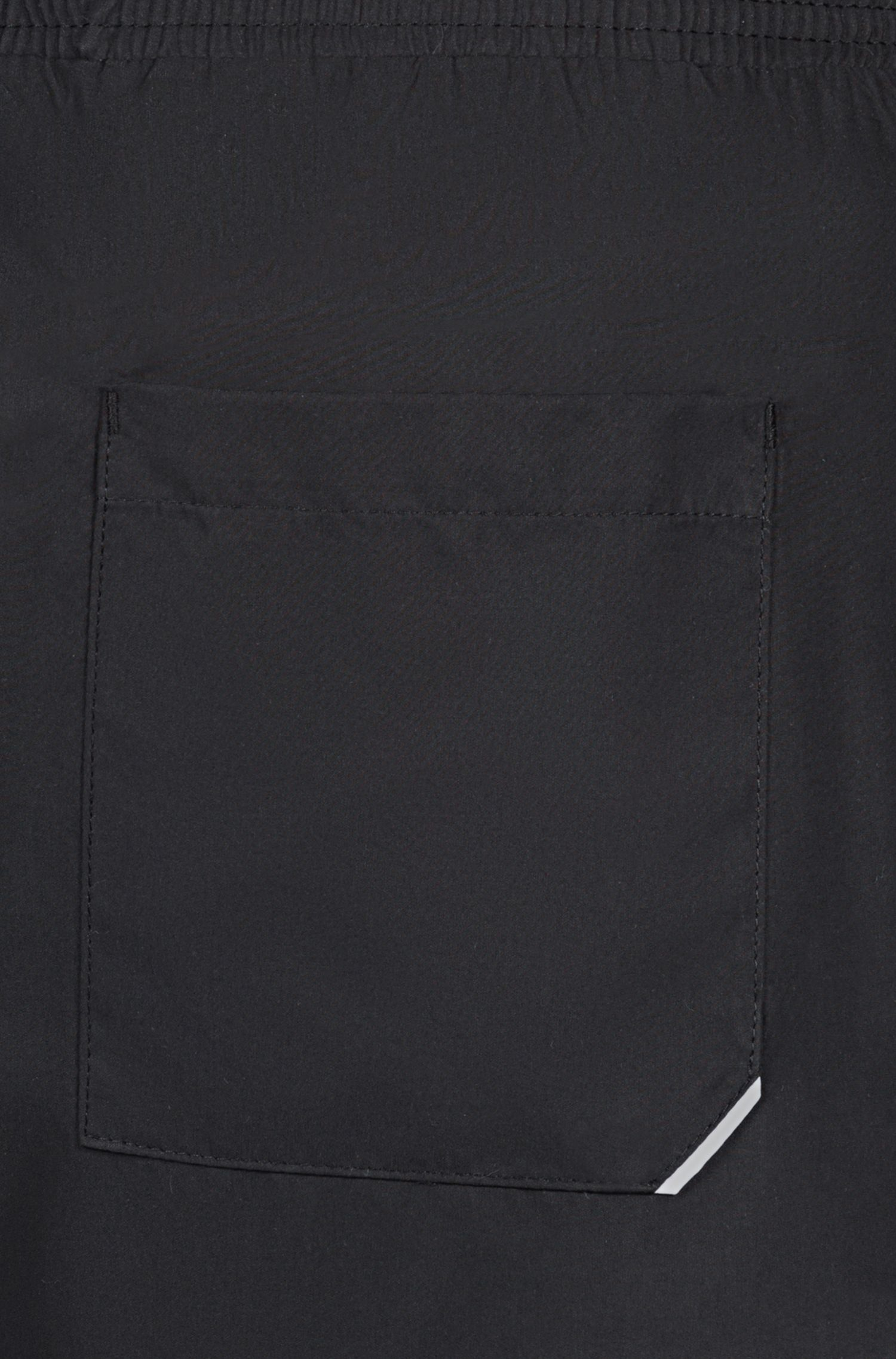 Quick-drying swim shorts with large-scale reverse logo, Black