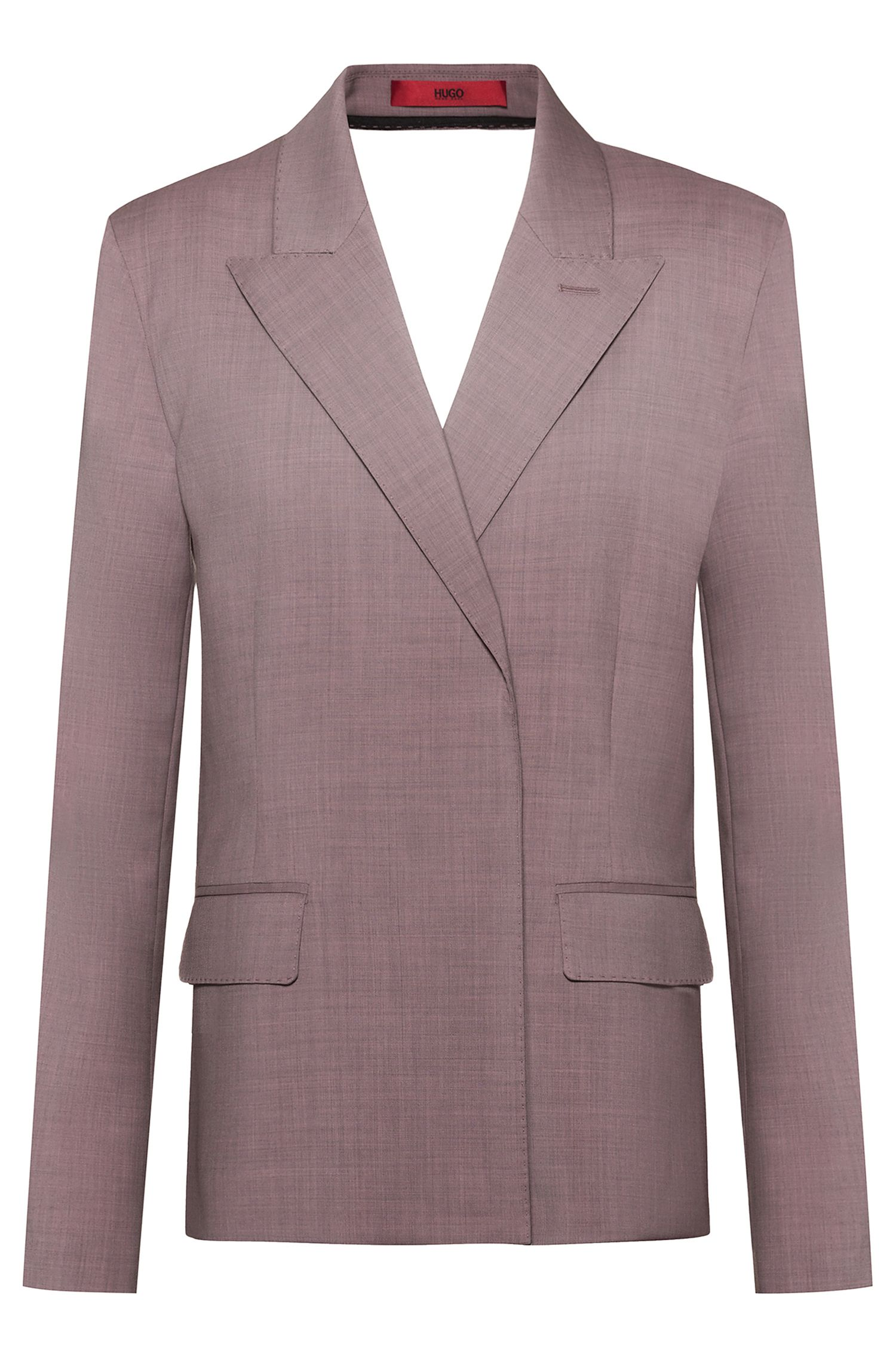 Fashion Show backless jacket in virgin wool, light pink