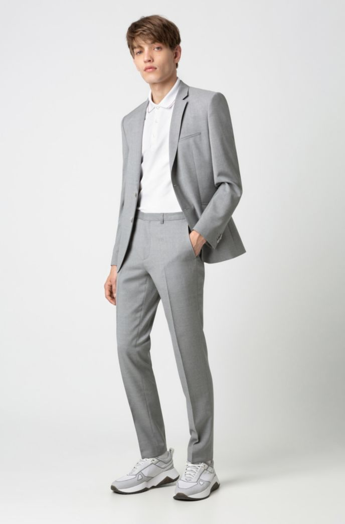 Slim-fit polo shirt in stretch-cotton piqué