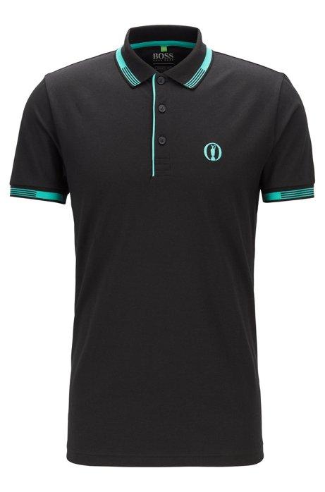 The Open Exclusive polo shirt with S.Café®, Black