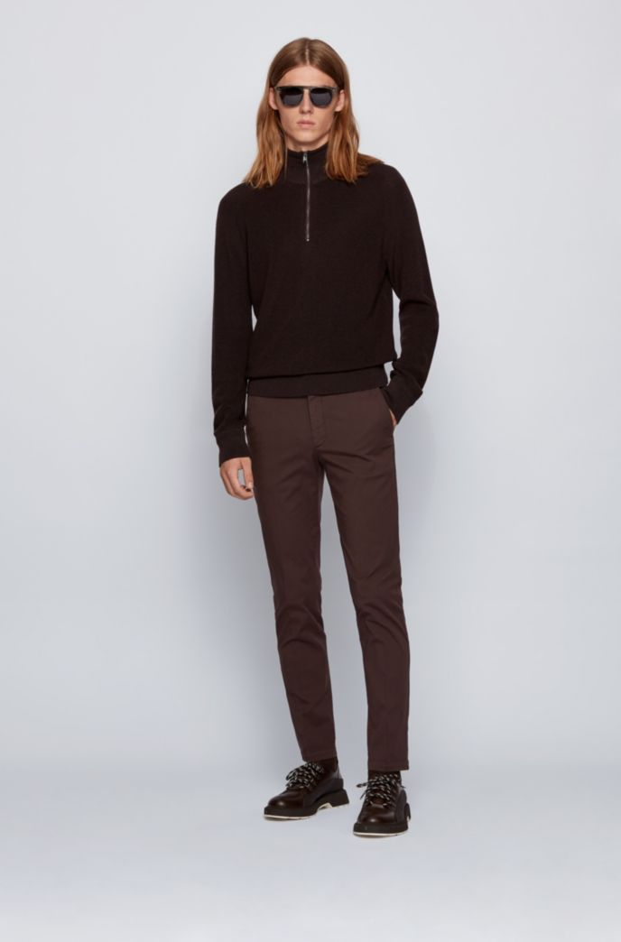 Slim-fit chinos in stretch-cotton gabardine