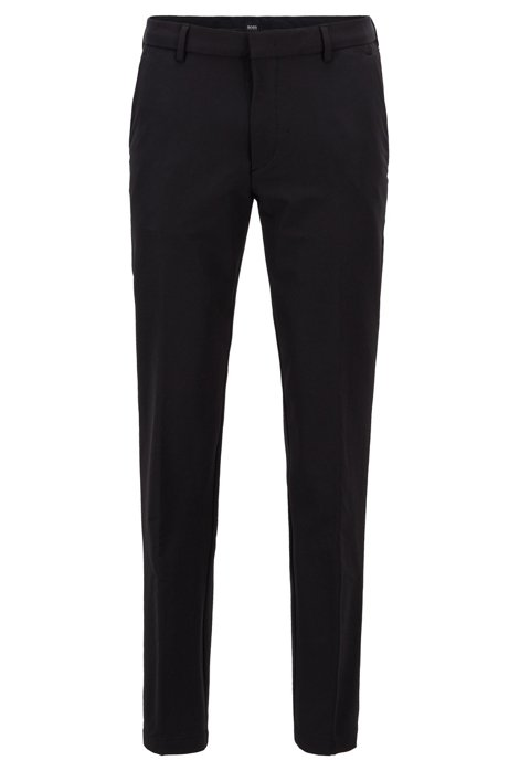 Travel Line slim-fit chinos with concealed pockets, Black