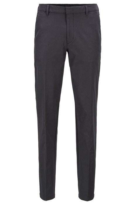 Travel Line slim-fit chinos with concealed pockets, Grey