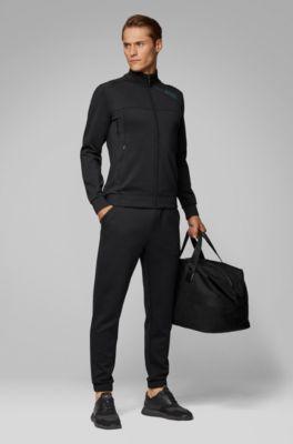 Hugo Boss Mens Sicon Slim Fit Long Sleeve Zip Front Sweatshirt