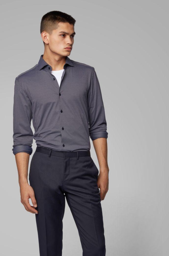 Slim-fit shirt in Italian stretch fabric