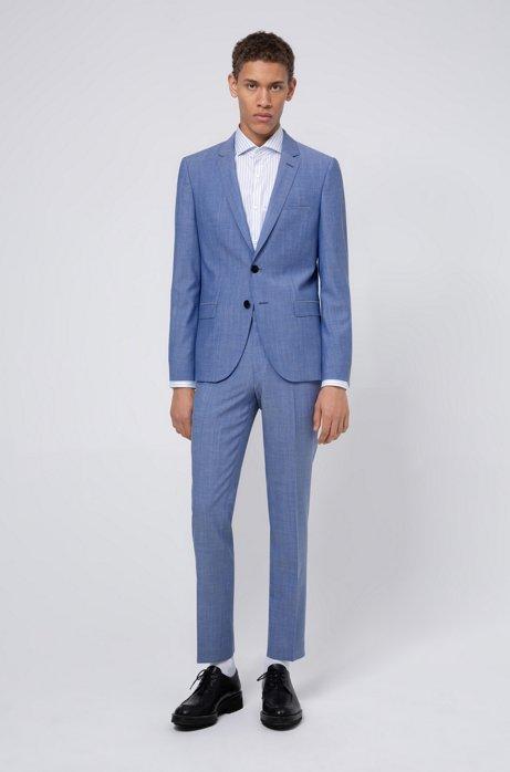 Extra-slim-fit suit in virgin wool, Light Blue