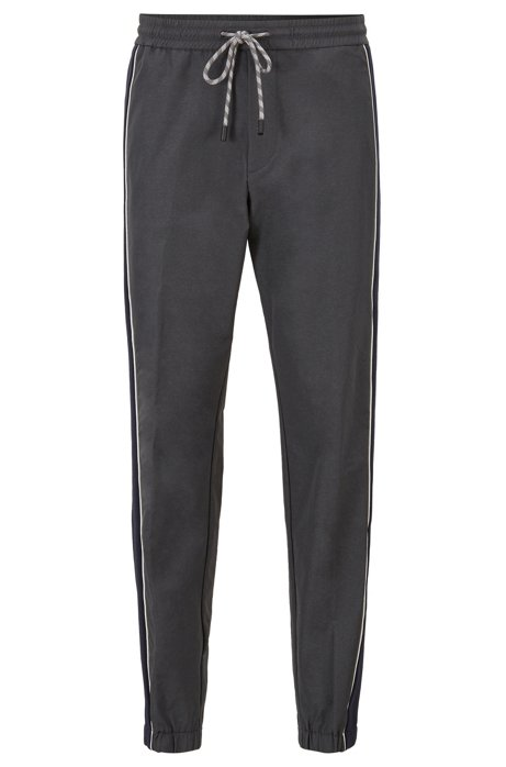 Relaxed-fit jogging bottoms in bi-stretch fabric, Grey