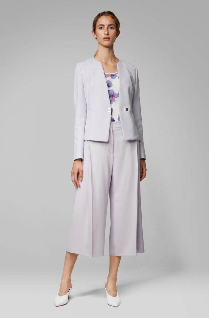 Slim-fit jacket in Portuguese fabric with hardware closure