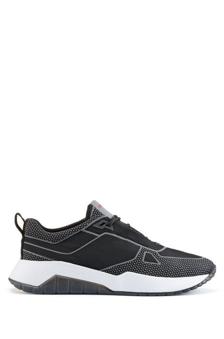 Chunky sneakers with reflective details, Black
