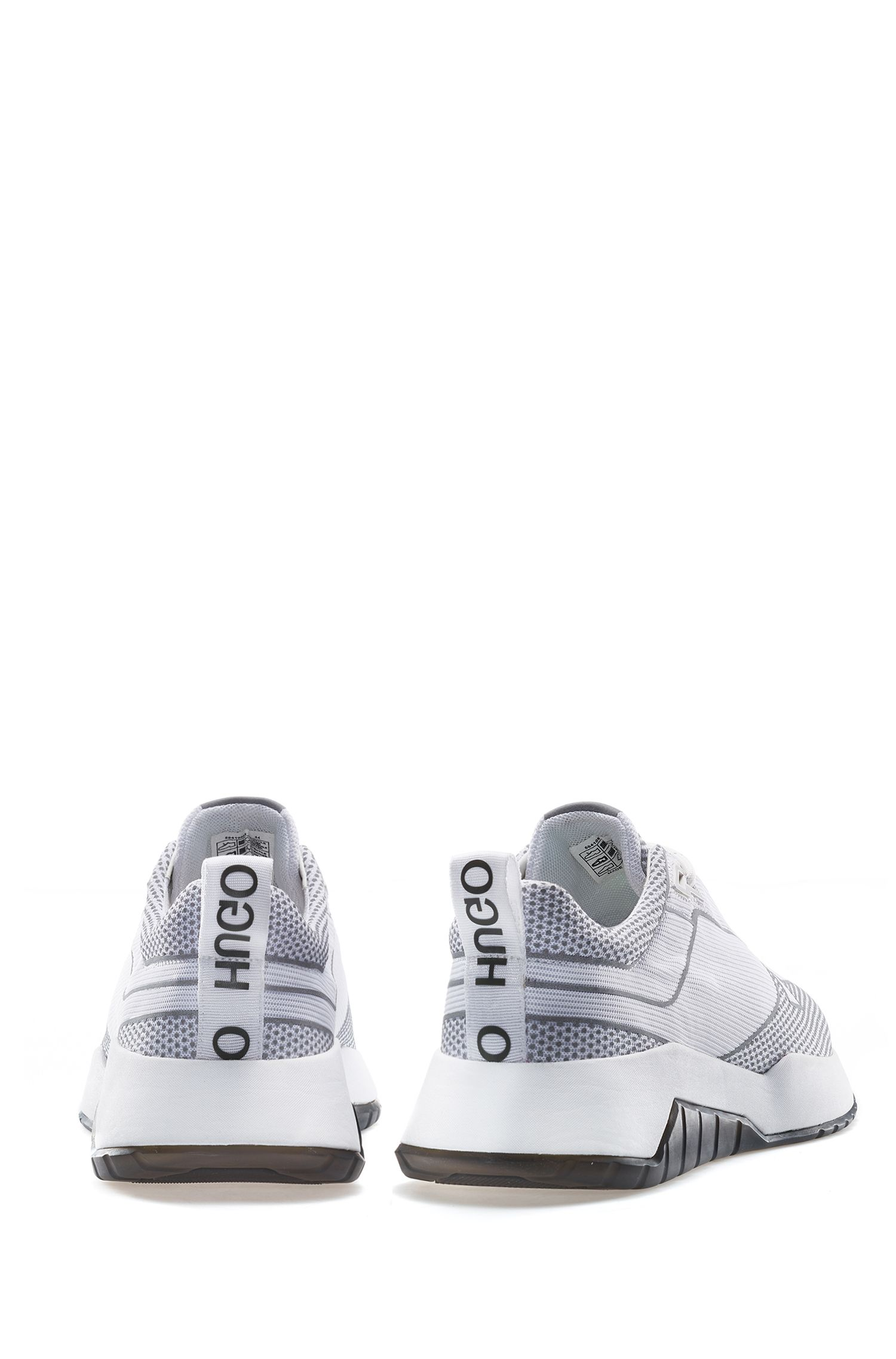 Chunky sneakers with reflective details, White
