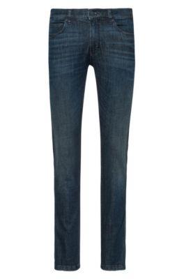 Skinny-fit jeans in dark-blue denim, Dark Blue