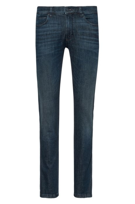Skinny-fit jeans in dark-blue denim, Dark Blue