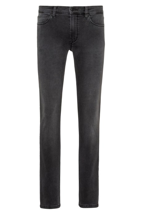 Skinny-fit jeans in grey stretch denim, Grey