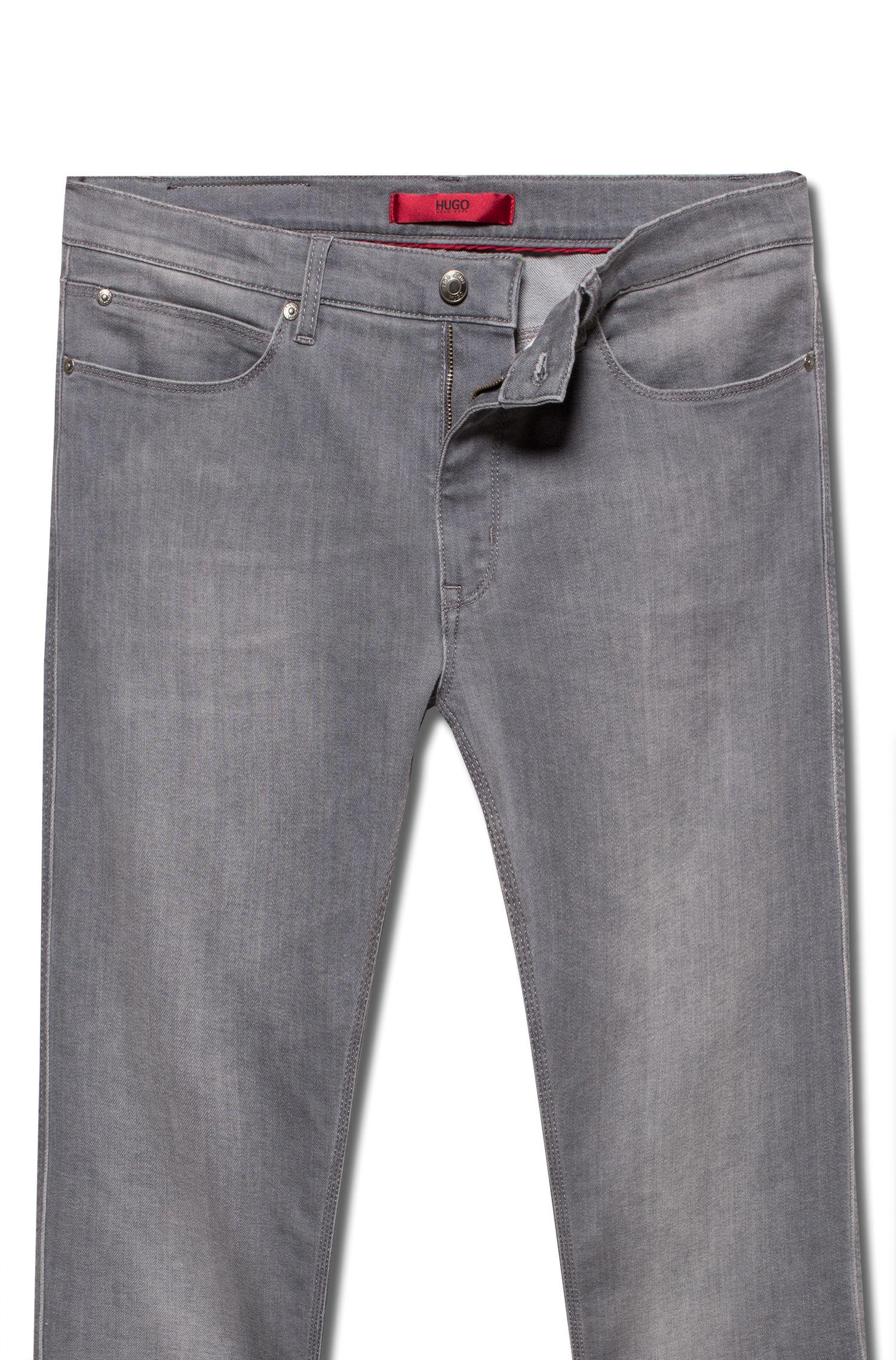 Skinny-fit jeans in lightweight stretch denim, Grey