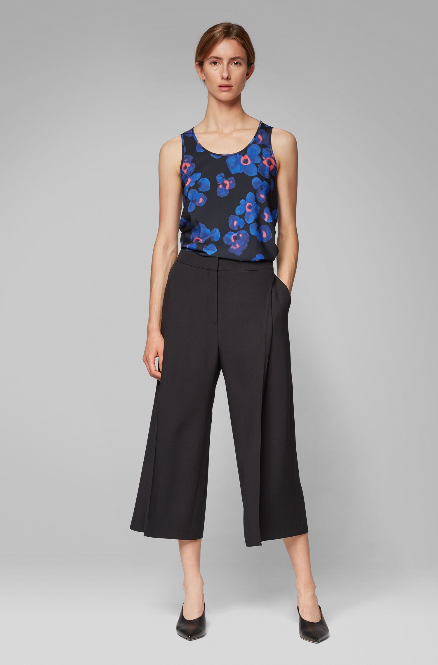 Regular-fit sleeveless top in collection print, Patterned