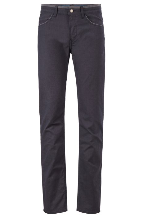 Slim-fit jeans in stretch denim with contrast details, Dark Blue