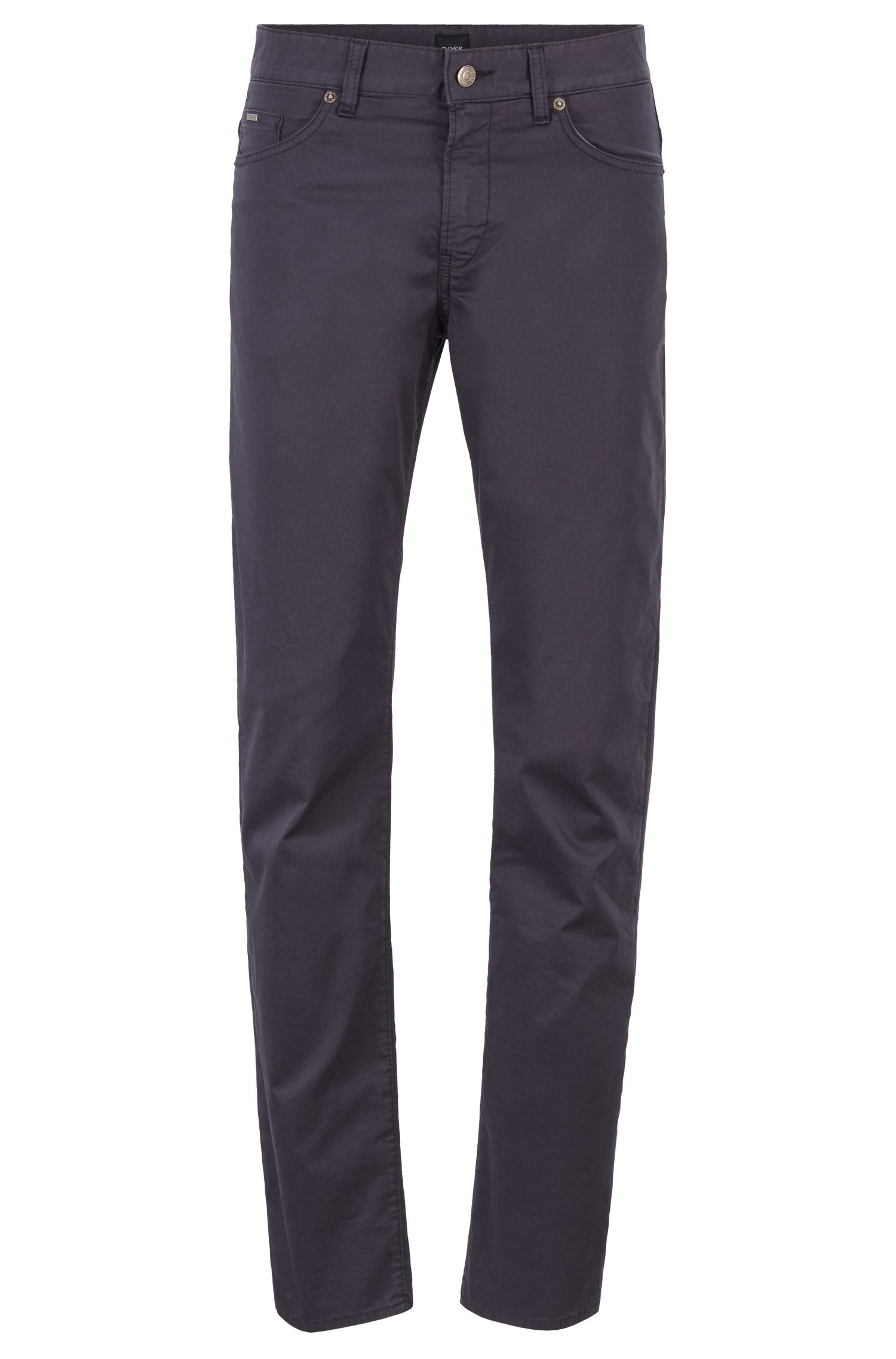 Slim-fit jeans in crease-resistant stretch fabric, Dark Blue