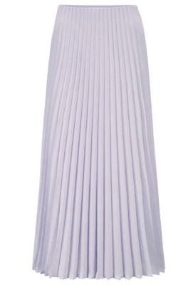 Hugo Boss Pliss Maxi Skirt In Melange Fabric In Light Purple