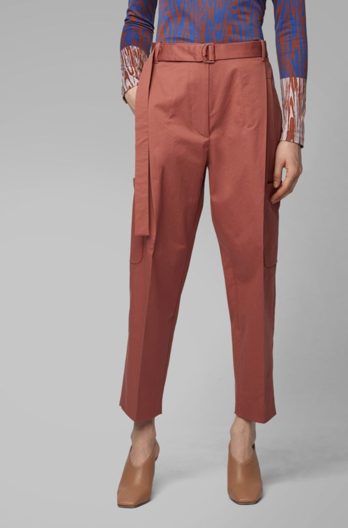 Relaxed-fit pants in Portuguese stretch cotton