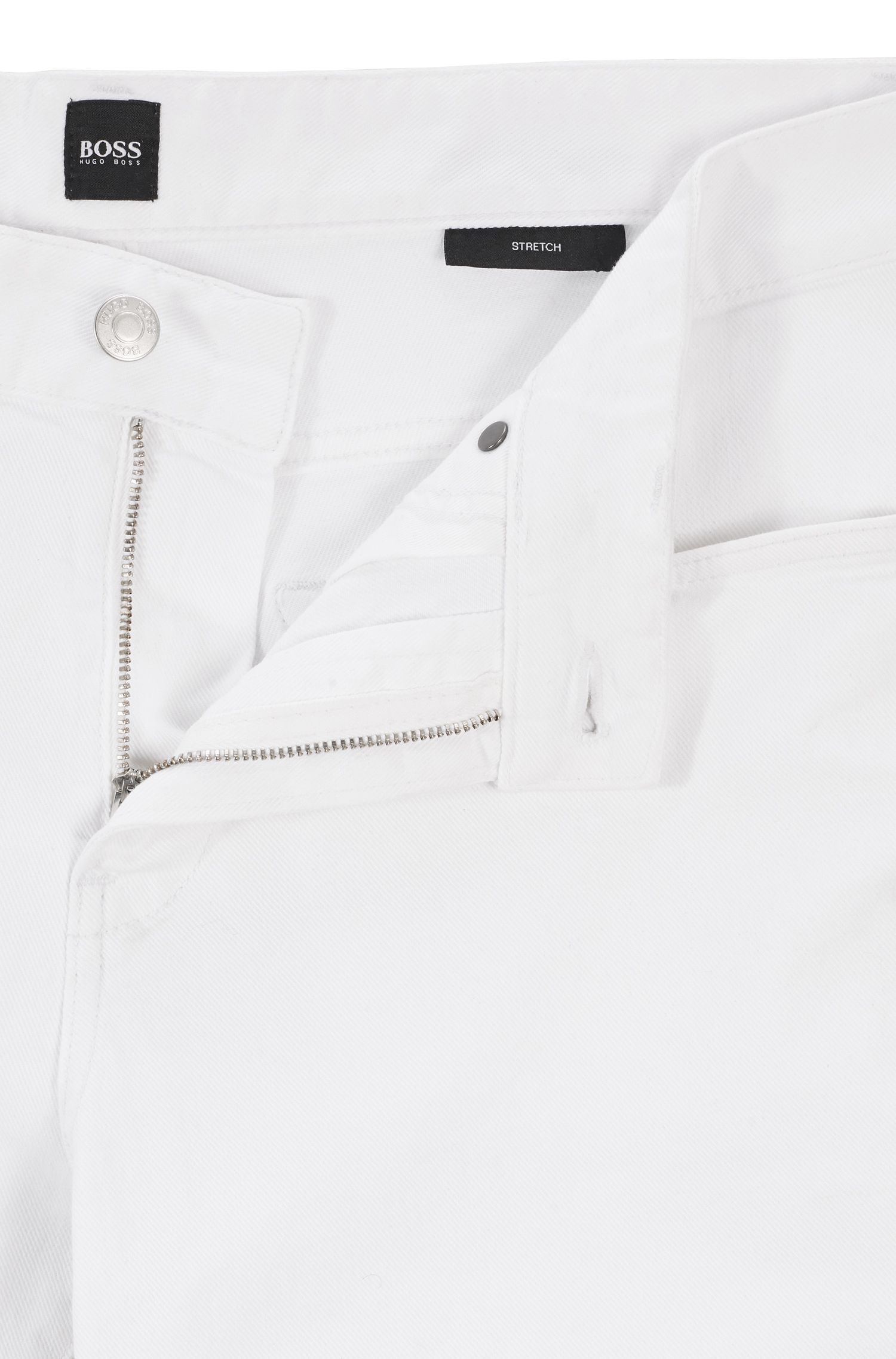 Slim-fit jeans in comfort-stretch denim, White