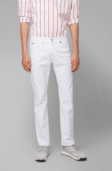 Slim-fit jeans in comfort-stretch denim, White