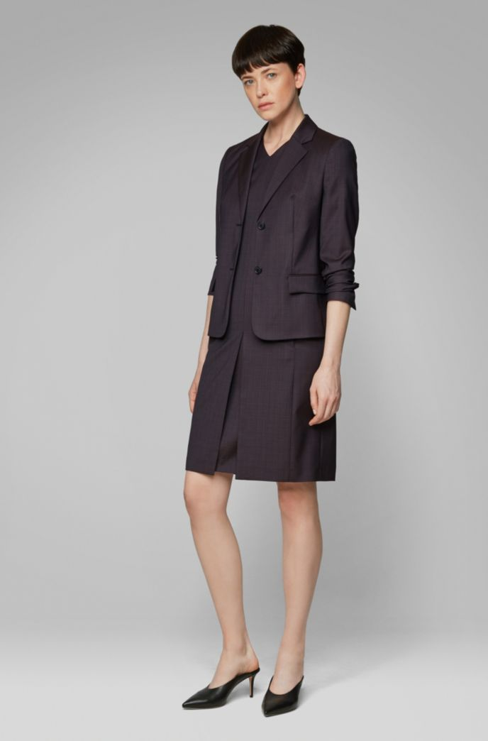 Regular-fit checked jacket in Italian virgin wool