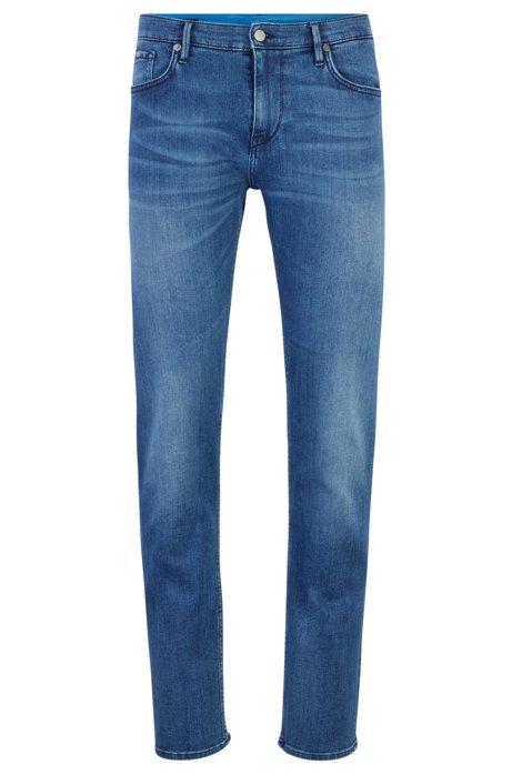 Extra-slim-fit jeans in Italian denim, Blue