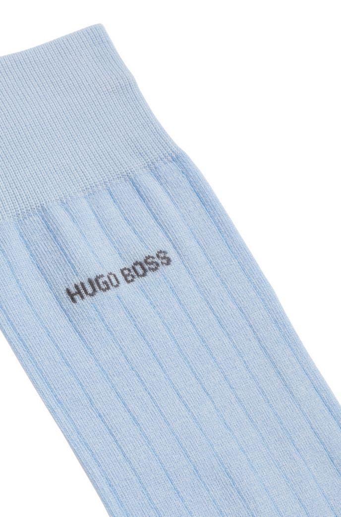 Regular-length socks in a mercerized-cotton blend