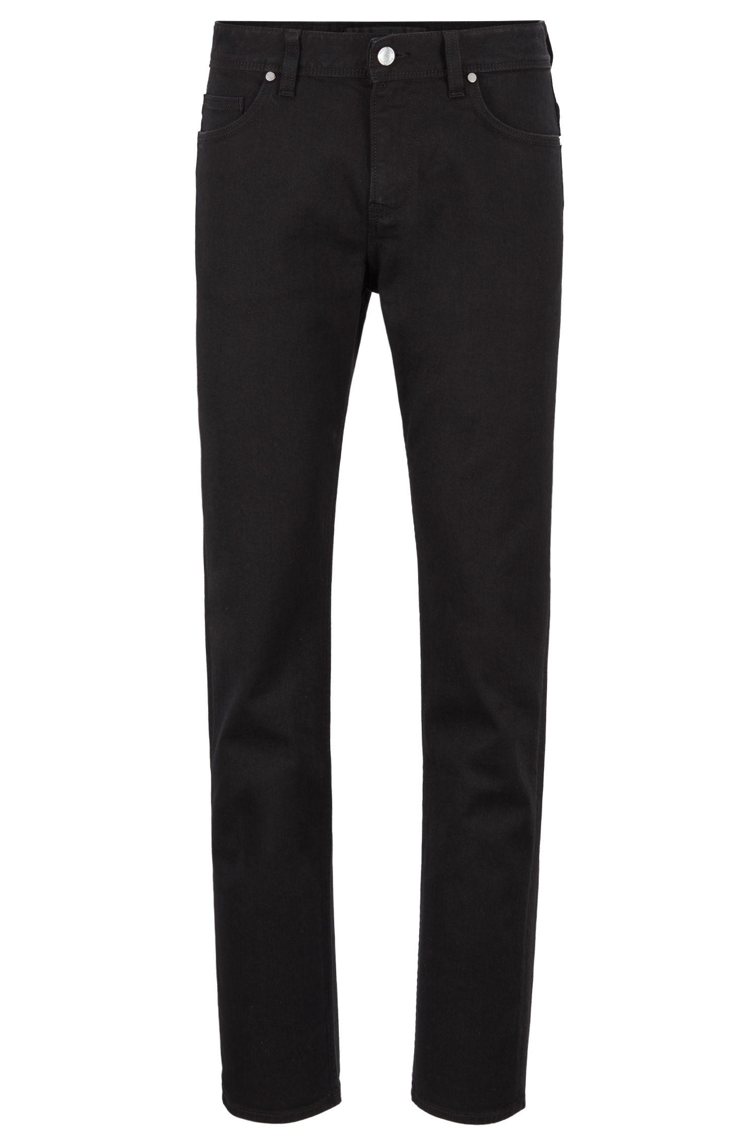 Slim-fit jeans in BCI-cotton stretch denim, Black