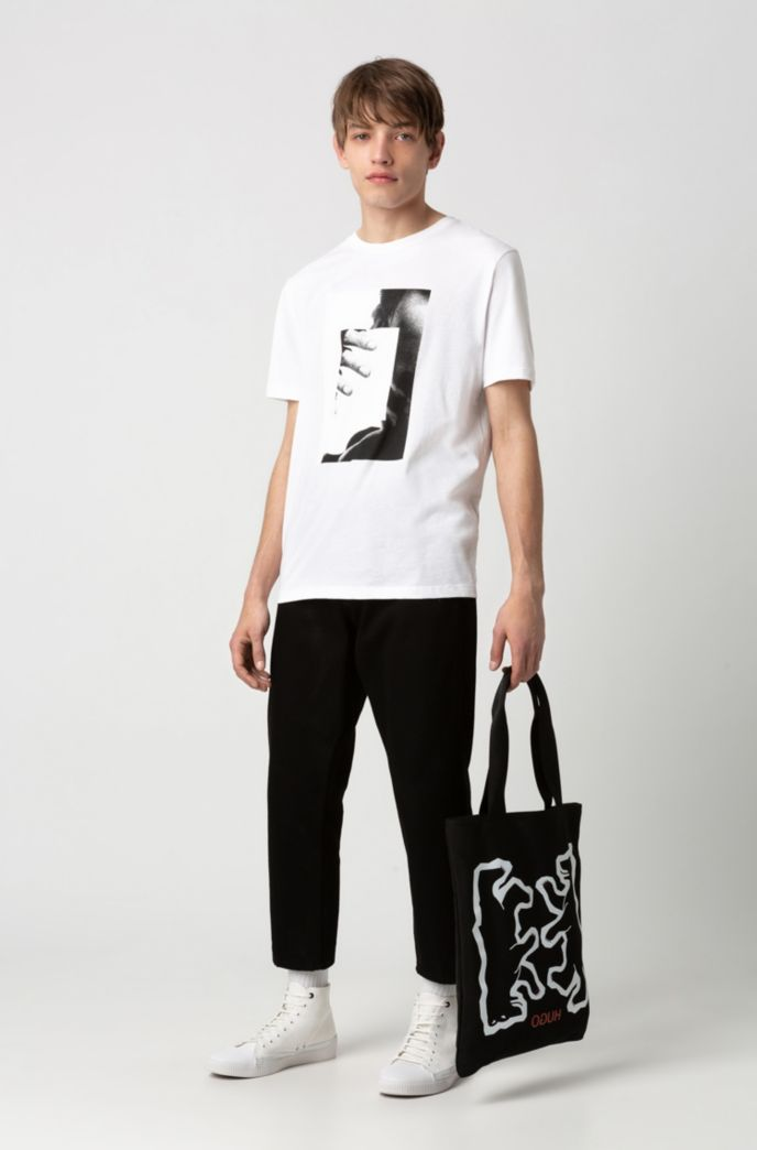 Photo-print T-shirt in recot²® cotton