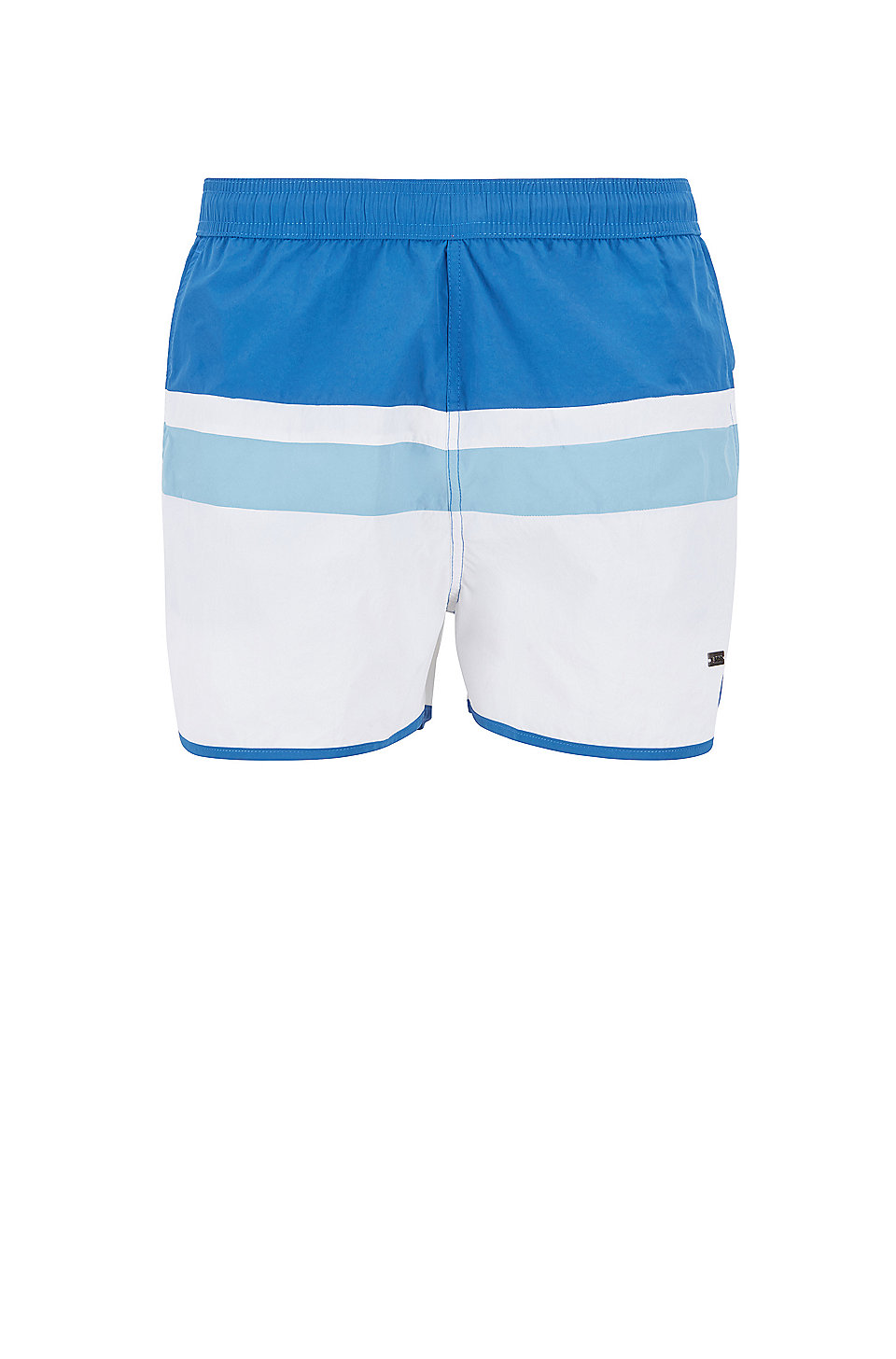 Vintage Inspired Swim Shorts With Placement Stripe by Boss