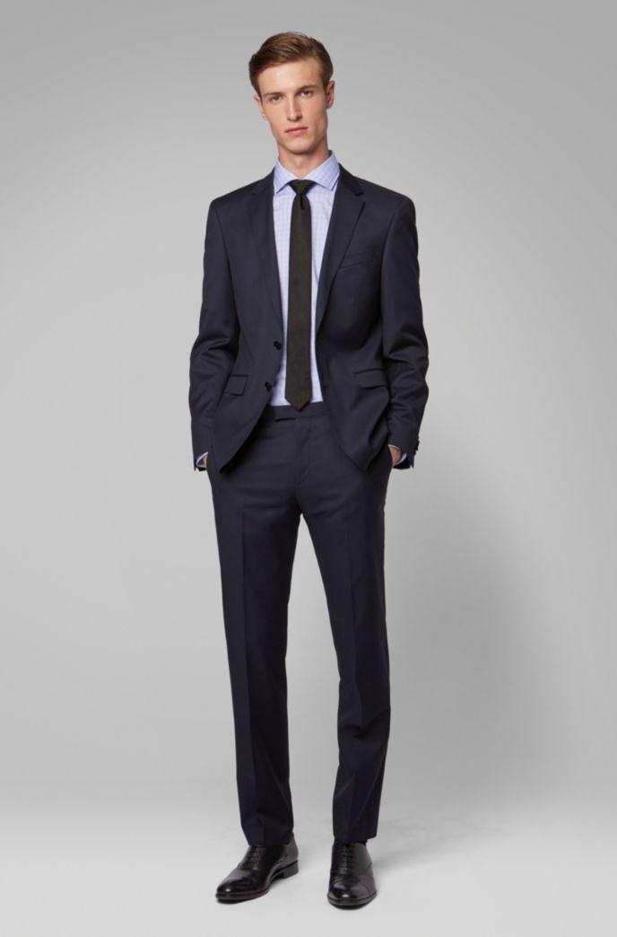 Glen-check slim-fit shirt in easy-iron cotton
