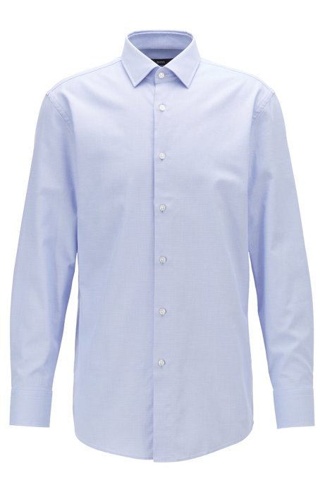 Slim-fit shirt with two-colored micro structure, Purple