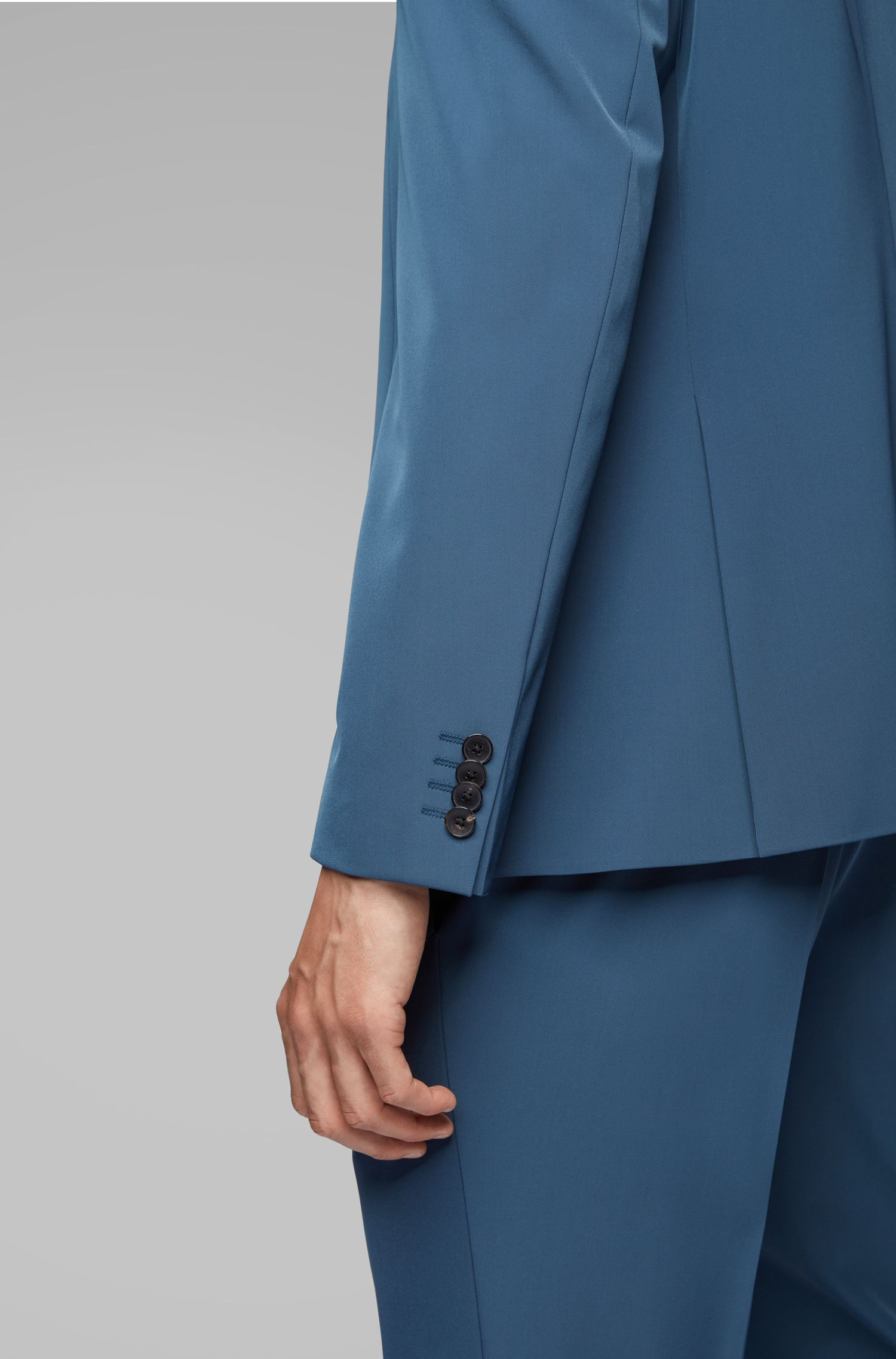 Extra-slim-fit suit with stitch-free finishing, Blue