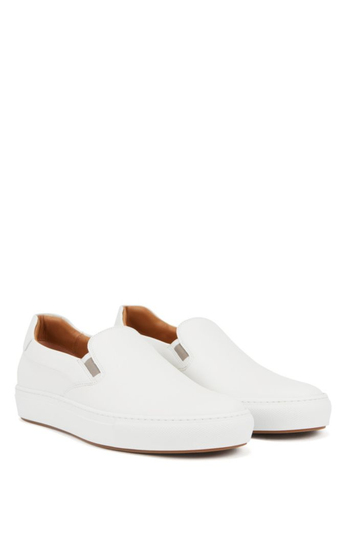 Italian-made slip-on sneakers in burnished leather