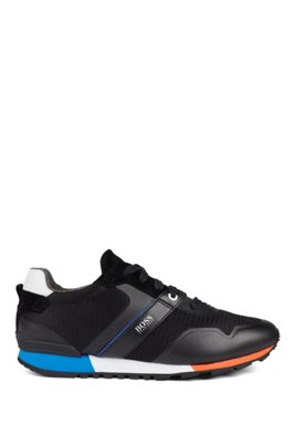 Hybrid sneakers with bamboo-charcoal lining and lightweight sole, Black