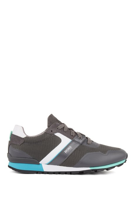Hybrid sneakers with bamboo-charcoal lining and lightweight sole, Dark Grey