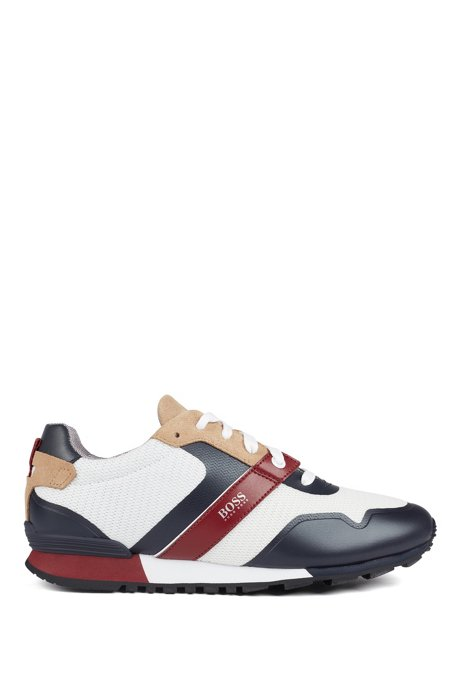 Hybrid sneakers with bamboo-charcoal lining and lightweight sole, Open Beige