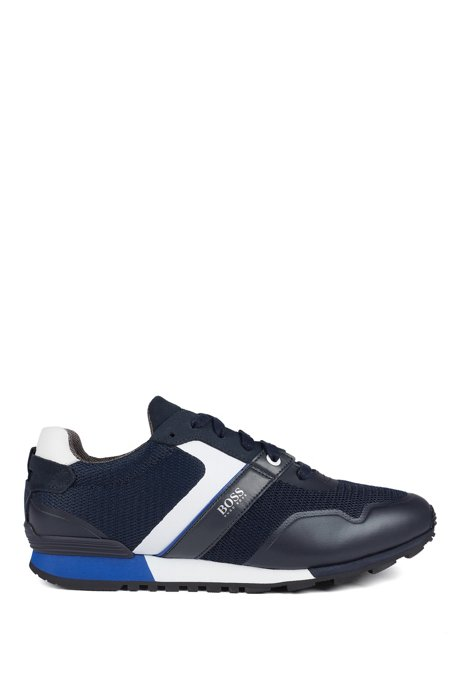 Hybrid sneakers with bamboo-charcoal lining and lightweight sole, Dark Blue
