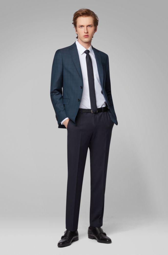 Slim-fit jacket in Glen-check virgin wool