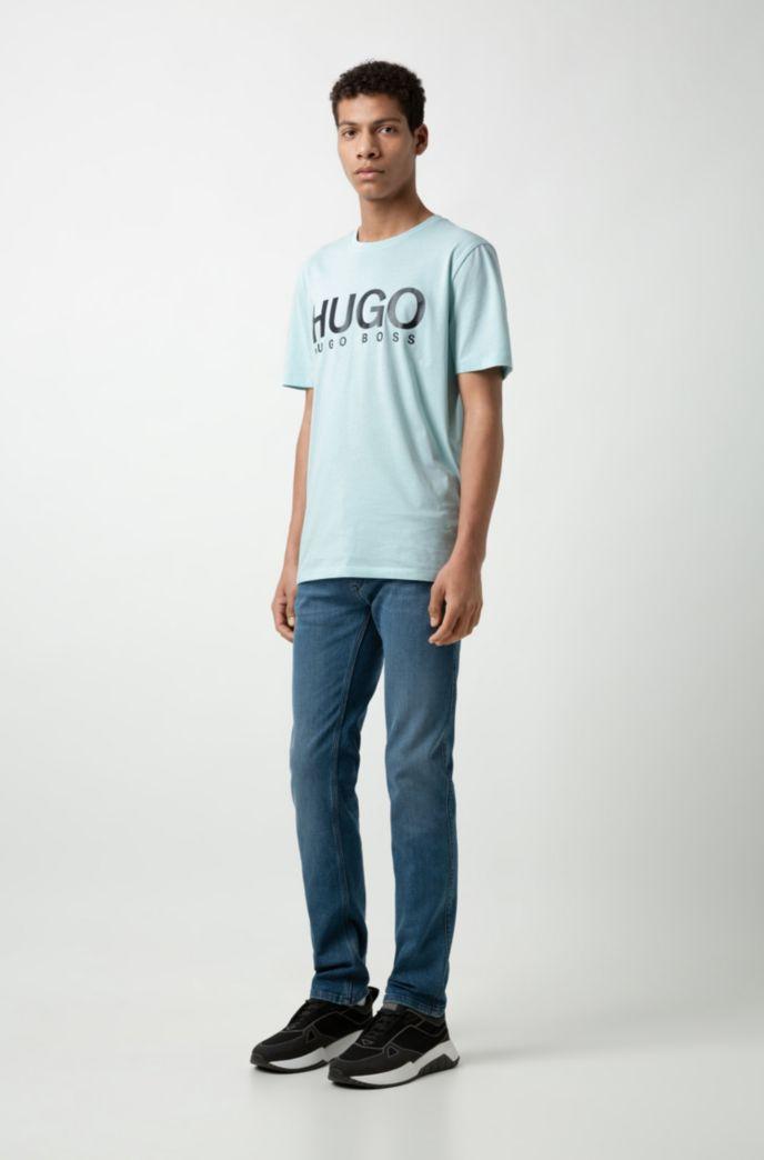 Slim-fit jeans in mid-blue stretch denim
