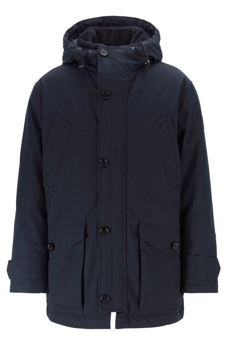 Regular-fit parka in two-layer water-repellent fabric, Dark Blue
