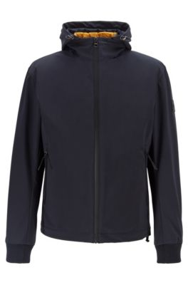 Water-repellent three-in-one jacket with detachable hood, Dark Blue