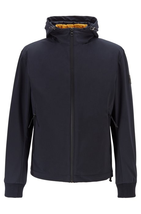 Water-repellent three-in-one jacket with detachable hood, Dark Blue